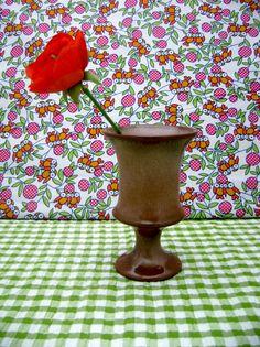Vintage Frankoma Earthenware Sapulpa Clay Vase/Goblet f35 usa