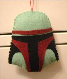 Star Wars Boba Fett felt plush ornament helmet