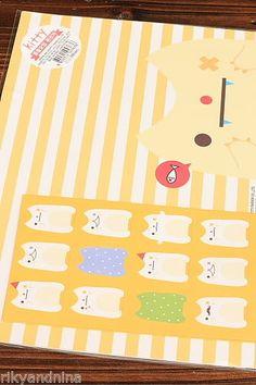 kawaii stationery KITTY Letter Set colorful cartoon yellow CAT paper & envelopes, £4.50 | eBay