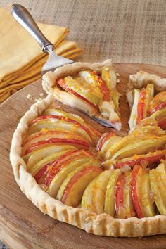 Ginger Apple Tart from Phyllis Hoffman Celebrate - good use of apples in season