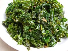 I LOVE kale and this is how I like to  make it almost every time.  Im a hot pepper flake chick, but if thats too much for you, just leave it out!  Great as a side dish, but I can eat this as my main meal, maybe just add some chickpeas or cannelini beans in at the end, amazing!