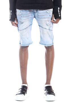 KLEEP KLEEP PREMIUM HEAVY WASHED COTTON DENIM SHORT PANTS