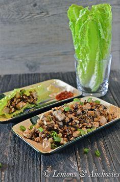 Mushroom-Tofu Lettuce Wraps #vegetarian #vegan