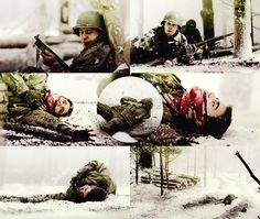 BAND OF BROTHERS | Bastogne The death of Pvt. John Julian.