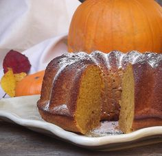 Pumpkin Ginger Pound Cake. What's not to love.
