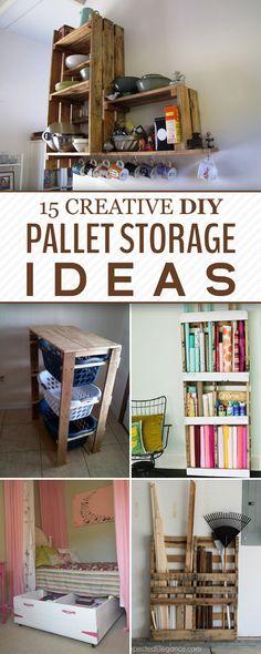 Super Creative DIY Pallet Storage Ideas