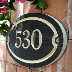 Oval House Number Engraved Plaque by WoodDesigners on Etsy, $23.00