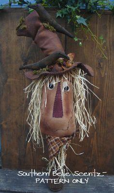 Sammy The Scarecrow on Wooden Bobbin E by SouthernBelleScentz, $5.00