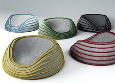 HAPPY DAYS | design by Francois Papastefanou #fauteuil #pouf