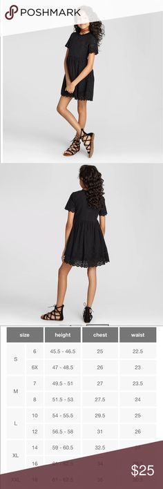 🎉🎉HP🎉🎉New without tags eyelet black dress The Girls' Eyelet Dress from Art Class perfectly pairs elegant accents with a comfy fit. This fashionable girls' dress offers elevated details like pretty eyelets, scalloped trim and a stylish frayed neck. Get playful with the young, bright and bold Art Class collection, co-designed by creative kids with an eye for style. Sizing: Kids (4-16) Material: 100% Cotton, Lining: 100% , Cotton Neckline: Crew Short sleeve. 🎉🎉HP 6/22/17🎉🎉 art class…