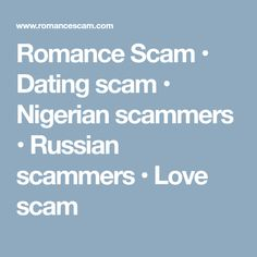 best dating scams in nigerian