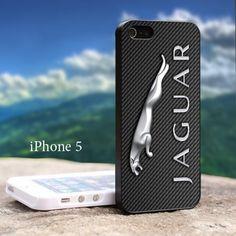 Jaguar Carbon Fiber Logo Iphone 5 Black Case   GoToArt - Accessories on ArtFire