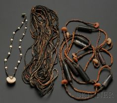 Four Pre-Columbian Beaded Necklaces | Sale Number 2506, Lot Number 110 | Skinner Auctioneers