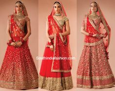 sabyasachi heritage red bridal lehengas