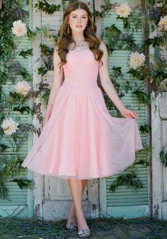 Peach Perfection Tulle Dress | Modern Vintage Bridal
