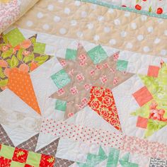 Help! I can't stop posting photos of my Fig Tree sampler quilt! But I love every block, especially the Coney Island nosegay blocks. #figtreeandco #figtreequilts #modafabrics #showmethemoda #blockofthemonth #samplerquilt #quilt #patchwork #sew #menwhoquilt