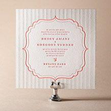 Simple Frame Letterpress Invitation Design Small