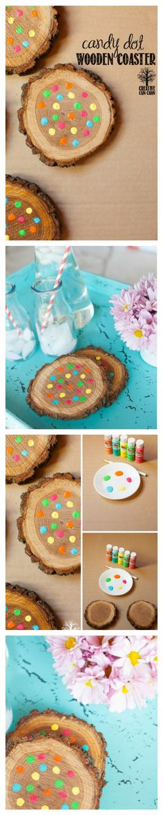 How to Make Fun and Festive Coasters Using Scrap Wood From A Tree Trunk