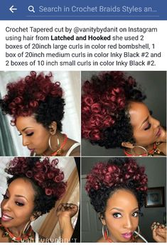 Tapered cut.  Protective style. Crochet braids.  Crochet tapered cut.