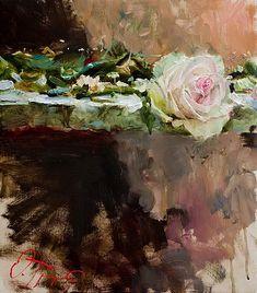 Love the rough background and the feminine feel of the flowers. Oleg Trofimov: Rose