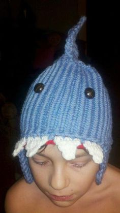 Awesome hat! It was made with a knifty knitter too! :D