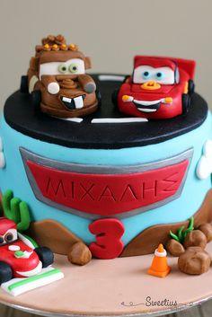 Τουρτα Cars   Cars Cake - Sweetius Blog Love, Greek Recipes, Car Car, Art For Kids, Birthday Cake, Cars, Desserts, Food, Party
