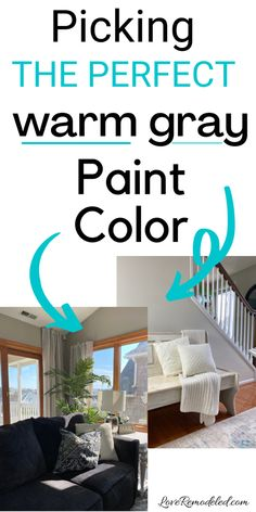 Looking for a warm gray paint color? These beige/gray paint colors are perfect choices! #greige #paintcolorideas