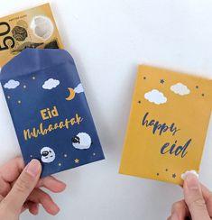 Diy Eid Gifts, Eid Stickers, Eid Eid, Eid Crafts, Disney Cars Party, Money Envelopes, Envelope Design, Happy Eid, Rose Boutique