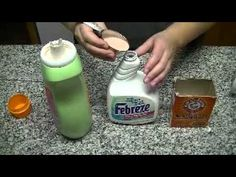 DIY Febreeze - All you need is: Your favorite fabric softener. Baking soda. Water. Just add 1/8 cup of your favorite fabric softener, add 2 teaspoons of baking soda, and fill the rest of the bottle with water.