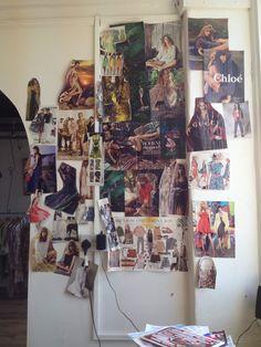 Caroline Oates' wall of summer 2014 inspiration!