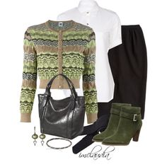 Missoni Cardigan and Green Boots, created by imclaudia-1 on Polyvore