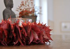 Blätterkranz aus Weinblättern