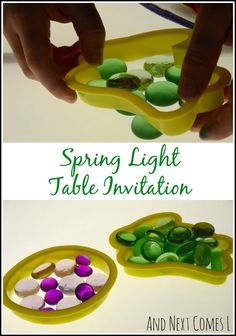 Spring light table invitation from And Next Comes L