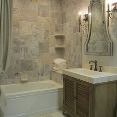 Photo Gallery Website Travertine Tile Bathroom Design photos ideas and inspiration Amazing gallery of interior design and decorating ideas of Travertine Tile Bathroom in