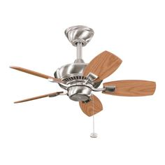 Kichler 300103BSS Canfield 30IN 5-Blade Damp Location Ceiling Fan, Brushed Stainless Steel Finish with Reversible Dark Oak/Medium Oak Blades Kichler http://www.amazon.com/dp/B003F1ES8Q/ref=cm_sw_r_pi_dp_j83vvb0NRK3FQ