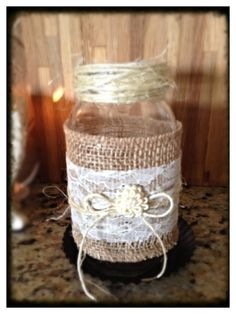 Set of 2 Pint Mason Jar Candle Holders with by PicketsAndPaisleys, $16.00