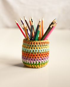Crochet Jar Cozy (included jar). €4.00, via Etsy.