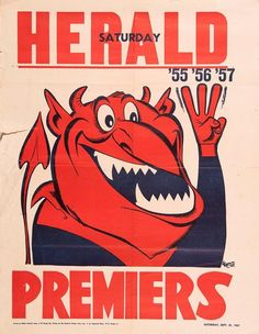 Ex… - Sporting - AFL/VFL - Memorabilia - Carter's Price Guide to Antiques and Collectables Australian Football, Funny Character, Vintage Posters, Melbourne, Price Guide, The Originals, Champs, Sports, Logo