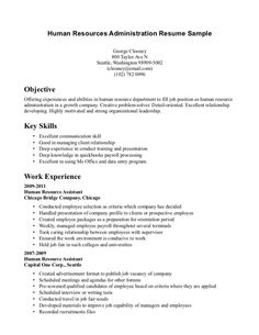 entry level human resources resume - Human Resources Sample Resume