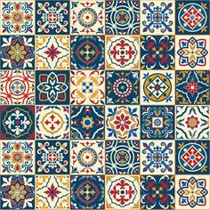 49958011-Gorgeous-seamless-pattern-white-colorful-Moroccan-Portuguese-tiles-Azulejo-ornaments-Can-be-used-for-Stock-Vector.jpg (1300×1300)