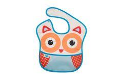 Olivia the Owl Waterproof Bib Waterproof Bibs, Cleaning Wipes, Lunch Box, Owl, Owls, Bento Box
