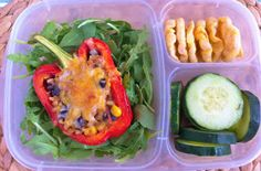 Operation: Lunch Box: Day 27 - Roasted Stuffed Peppers