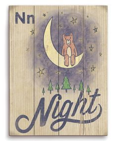 Look at this Beartastic 'N for Night' Wall Sign on #zulily today!