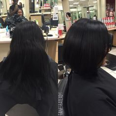 Before and after  HAIRCUT AND BLOWDRY only $32  BOOKING INFO IN BIO  #blowdry #blowout #hair #haircut #hairstyle #hairstylist #downey #LA #OC #cosmetologist #lahairstylist #lahairsalon #lahair #hairbyme #whittier #ochair #tagafriend #modernhair #jcpsalon #instyleatjcp #iworkatjcp #salonbyinstyle #thesalonbyinstyle #healthyhair #cutbyT #cutbyTanesha by taneshaready