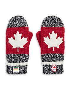 HBC Collections   Red Mittens   2016 Canada Red Mittens Adult S/M   Hudson's Bay Canadian Gifts, Red Mittens, O Canada, Hudson Bay, True North, Buffalo Plaid, Shoe Box, Drink Sleeves, Sewing Projects