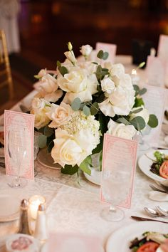 elegant wedding centerpiece idea