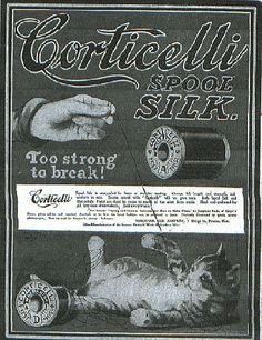Corticelli - They use cats for their advertising. How clever!