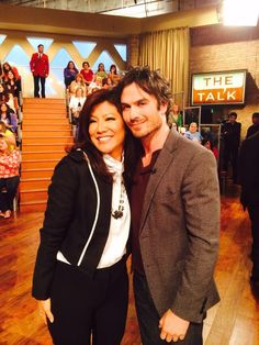 Ian Somerhalder on the Talk. He has such a gorgeous smile!