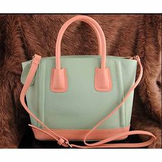 Womens lit green leather shoulder bag $119.00 - Out of stock