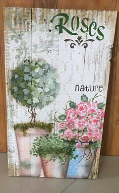 Arte Pallet, Creative Arts And Crafts, Country Paintings, Frame Crafts, Vintage Crafts, Mixed Media Canvas, Easy Paintings, Pictures To Paint, Paint Designs